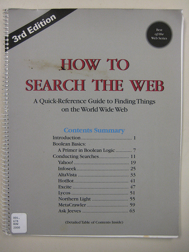 How to search the web book cover