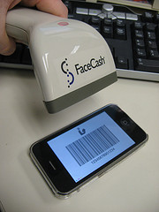 Image of scanning a smart phone