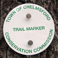 Chelmsford Conservation Commission trail marker