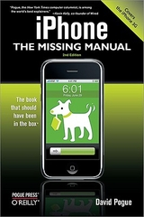 iPhone: The Missing Manual book cover