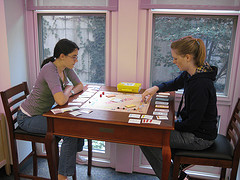 Patrons playing on game table