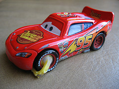 Lighting McQueen car with boot