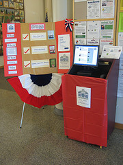 Library's One Book Voting booth