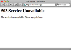 503 Error: Service Unavailable