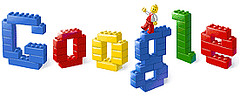 google logo in legos