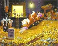 scrooge swimming in cash