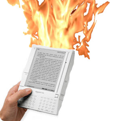 Kindle, burning
