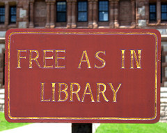 Free as in Library sign