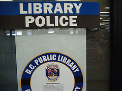 Library Police sign