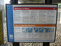 Welcome to the Metro sign