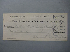 1919 check written to the ALA