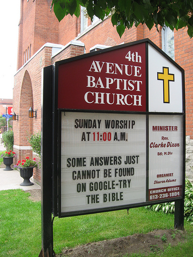 Google Church Sign