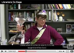 Librarians go GaGa video