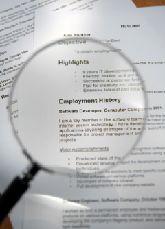 Resume scrutiny