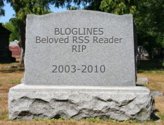 Bloglines tombstone
