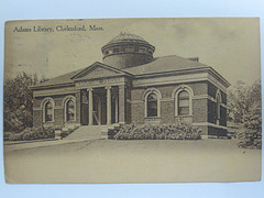 Historical postcard of the Chelmsford Library