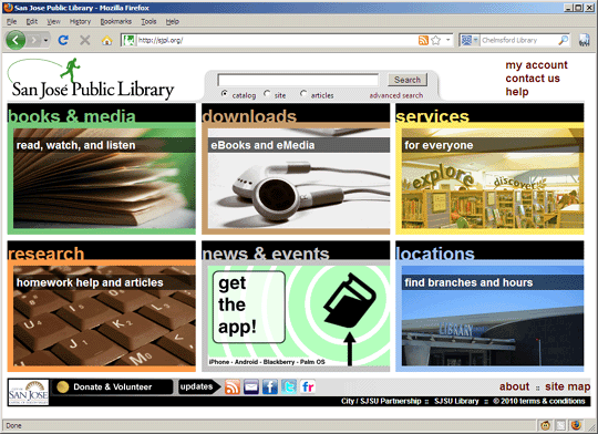 San Jose Public Library website