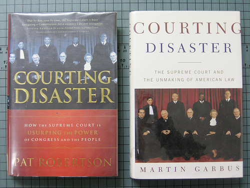 Two books called Courting Disaster