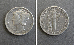 Silver Mercury Dime
