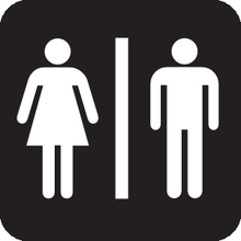 Universal Male-Female bathroom sign
