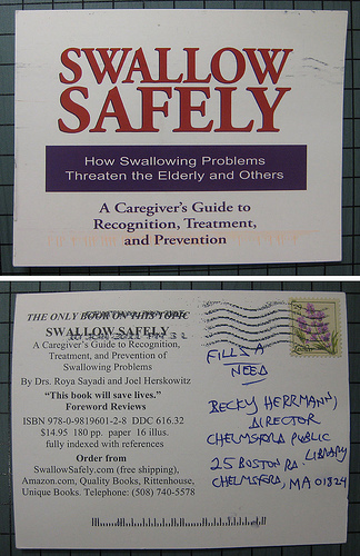 Swallow Safely promotional postcard