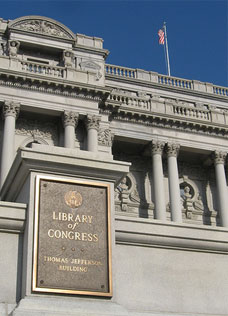 Library of Congress sign