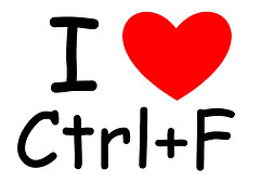 I [heart] Ctrl+F