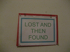 Lost and Then Found sign