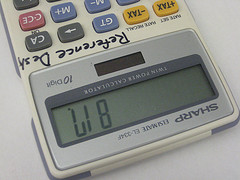 817 on a calculator spells LIB upside-down