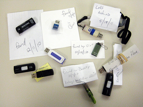 Found flash drives