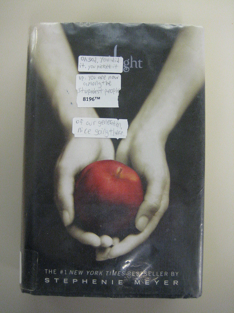 Twilight with stickers on cover