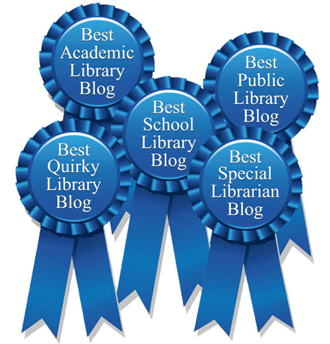 Salem Press Library Blog Award ribbons