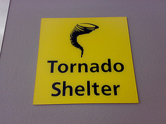 Tornado Shelter sign