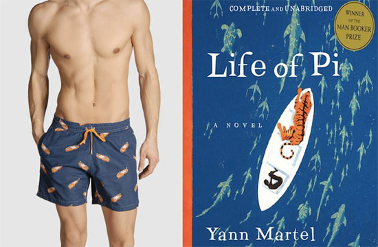 The Life of Pi by Yann Martel, and suit