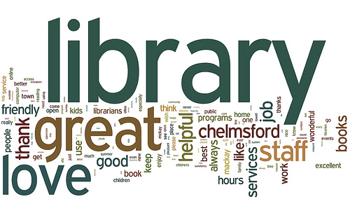 Library Patron Survey Comments cloud