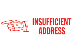 Insufficient Address Stamp
