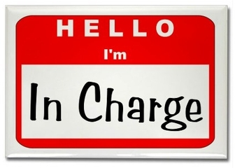 Hello, I&#039;m IN CHARGE badge
