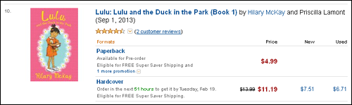 Lulu and the Duck listing on Amazon