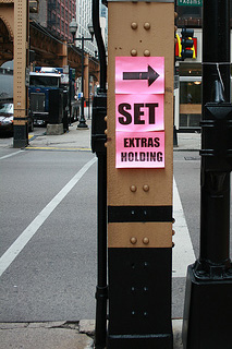 Movie set sign
