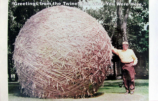 twine ball postcard